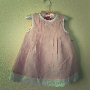 NWT First Impressions Pink Linen/Cotton Dress